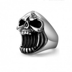 Stainless steel ring with...