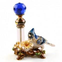 Vintage metalowy ptak - butelka na perfumy - 4ml