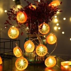 Łańcuch świetlny w kształcie plastrów owoców - na baterie / USB - cytryna / limonka / pomarańcza