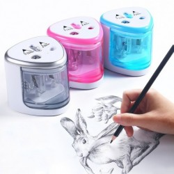 Electric pencil sharpener - double hole - touch switch - with blades
