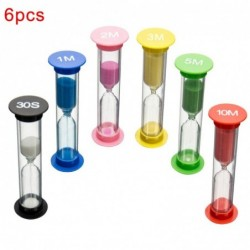Hourglass - with sand - clock timer - 6 pieces