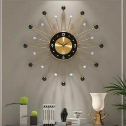 Styl skandynawski - zegar ścienny w kształcie słońca - 56cm