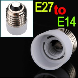 E27 to E14 Fitting Bulb Lamp Converter
