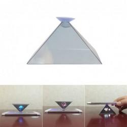 Mini projektor do telefonu - kształt piramidy - hologram 3D