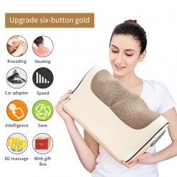Electric massage pillow - infrared heating - neck / shoulders / back