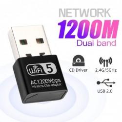 Mini adapter sieciowy - bezprzewodowy odbiornik Wi-Fi 2.4G / 5G - 150 Mb/s / 600 Mb/s / 1200 Mb/s / 1300 Mb/s