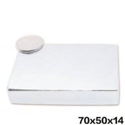 N52 - neodymium magnet - cuboid block - 70mm * 50mm * 14mm