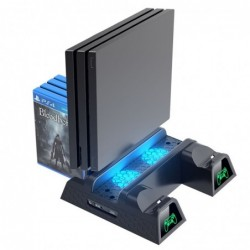 Podwójna stacja ładująca - podstawka chłodząca - LED - do kontrolera PS4/PS4 Slim/PS4 Pro