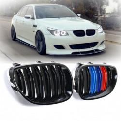 Frontniere - schwarz glänzend M-Farbe - für 2003-2010 BMW E60 E61 5er