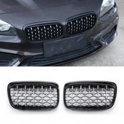 Car front grille - For BMW E87 E90 E92 E93 F20 F21 F30 F34 F35 E60 F10 F11 F18 G30 G38 F45 F32 F36 1/2/3/4/5 Series Diamond Gri