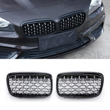 Car front grille - for BMW - E87 / E90 / E92 / E93 / F20 / F21 - 2 pieces