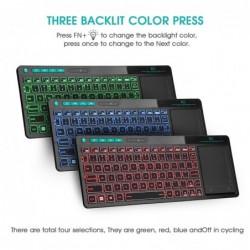 K18 Plus wireless keyboard - LED - multi-touch - English / Russian / Hebrew layout