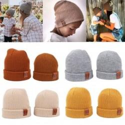 Ciepła dzianinowa czapka - dla dziewczynek / chłopców