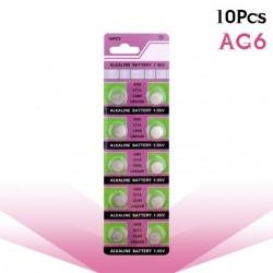AG6 371 D371 605 SR920SW SR69 guzikowa bateria alkaliczna 10 szt