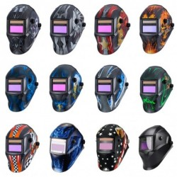 Welding mask with battery - automatic solar darkening with lens - eye and facial protection