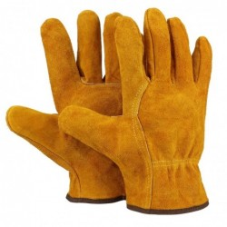 Safety / work gloves - fireproof - cow leather - for welding / soldering