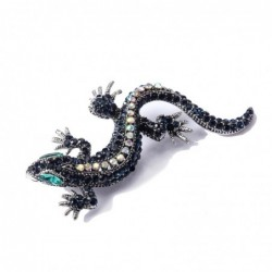 Modna broszka - vintage kryształowa jaszczurka