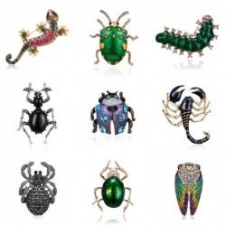 Elegancka kryształowa broszka - biedronka / skorpion / jaszczurka / gekon