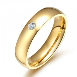 Elegancki / klasyczny pierścionek - z cyrkonią - 5mm