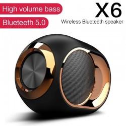 X6 - bezprzewodowy głośnik Bluetooth - HiFi bass - wodoodporny - Radio FM - TWS - SD - AUX