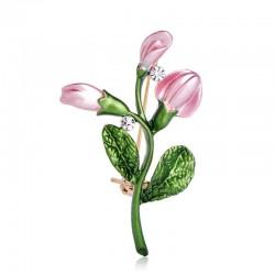 Wykwintny różowy tulipan -...