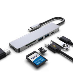 USB HUB adapter -  6 in  -...