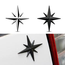3D star - car / motorcycle sticker - metal emblem