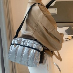 Mała torebka na ramię - nylon - szeroki pasek