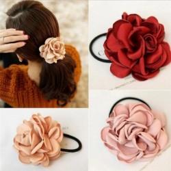 Elegancka gumka do włosów - z dużą różą