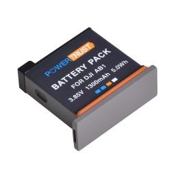 1300mAh - bateria / akumulator litowo-jonowy AB1 - ładowarka USB typu C - do kamery DJI Osmo Action Sports