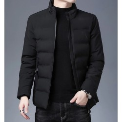 Warm winter jacket - quilted thick windbreaker