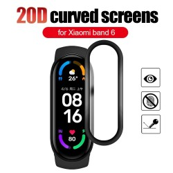 Soft glass protective film - screen cover - full curved - for Xiaomi Mi Band 5 / 6