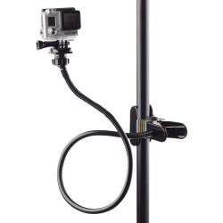Clamp clip mount - selfie stick - adjustable - flexible extension - for GoPro Hero 9/8/7/6/5/4/2/ DJI OSMO Xiaomi Yi
