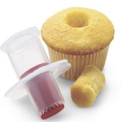 Cupcake / muffinboor - plastic zuiger