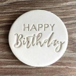 Koekjesvorm - Happy Birthday belettering