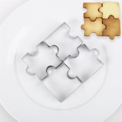 Cookie cutter mold - puzzle shaped - stainless steel