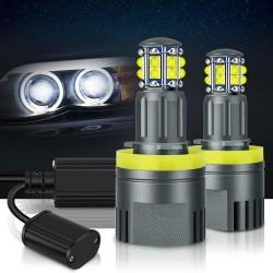 LED angel eyes lights canbus pour BMW - Phare LED - 6000k blanc - 2 pièces