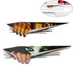Autosticker - 3D glurende ogen