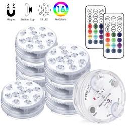 Dränkbart / undervattensljus - för akvarium / badkar - 13LED - 16 RGB - IP68 - med RF -fjärrkontroll