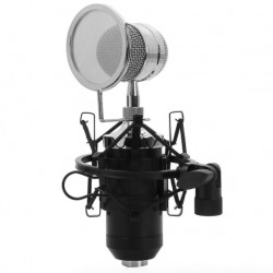BM-8000 Professional Sound Studio Recording Condenser Wired Microphone With 3.5mm Plug Stand Holder Pop Filter For KTV Karaoke
