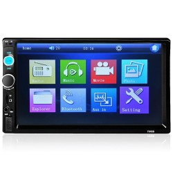 Bluetooth 7'' Inch Din 2 LCD touch screen autoradio MirrowLink