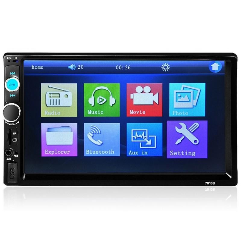 Bluetooth - DIN 2 Autoradio - 7 Zoll LCD Touchscreen - MP3 MP5 Player - MirrorLink