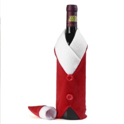 Christmas Wine Bottle Santa Claus Clothes Cover Set
