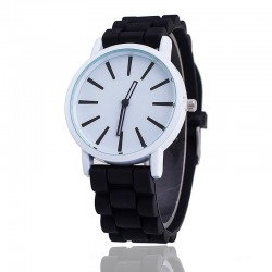 Silicone casual quartz watch