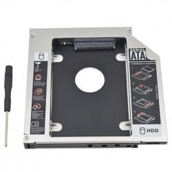 Box universale per optical bay in alluminio SATA HDD Caddy 12.7mm