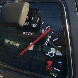 Adhesivo contador velocidad para coche de vinilo