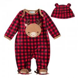 Tuta intera con maniche lunghe e cappuccio per bebè
