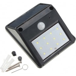 12 LED waterproof solar powered motion sensor light