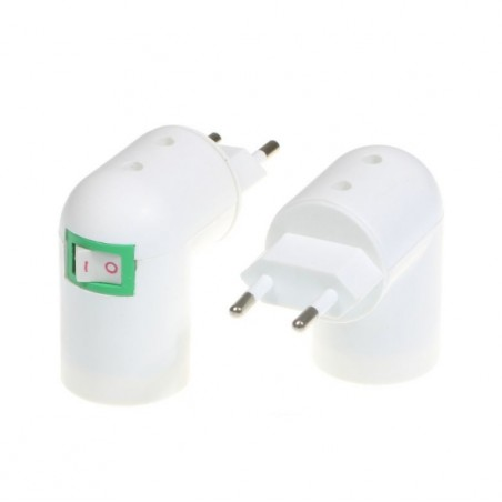 E27 Base Socket EU Plug With Built-in Switch