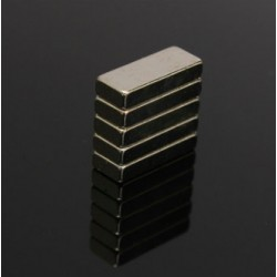 N52 Neodymium Magnet Rectangular Block 15 x 6 x 3mm 5pcs